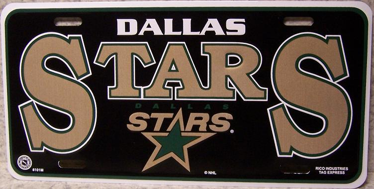 Dallas Stars National Hockey League Aluminum NHL License Plate thumbnail