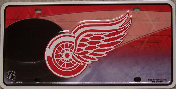Detroit Red Wings National Hockey League Aluminum NHL License Plate thumbnail
