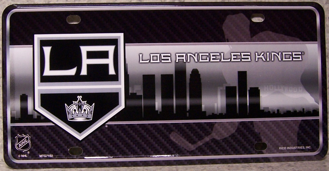 Los Angeles Kings National Hockey League Aluminum NHL License Plate thumbnail