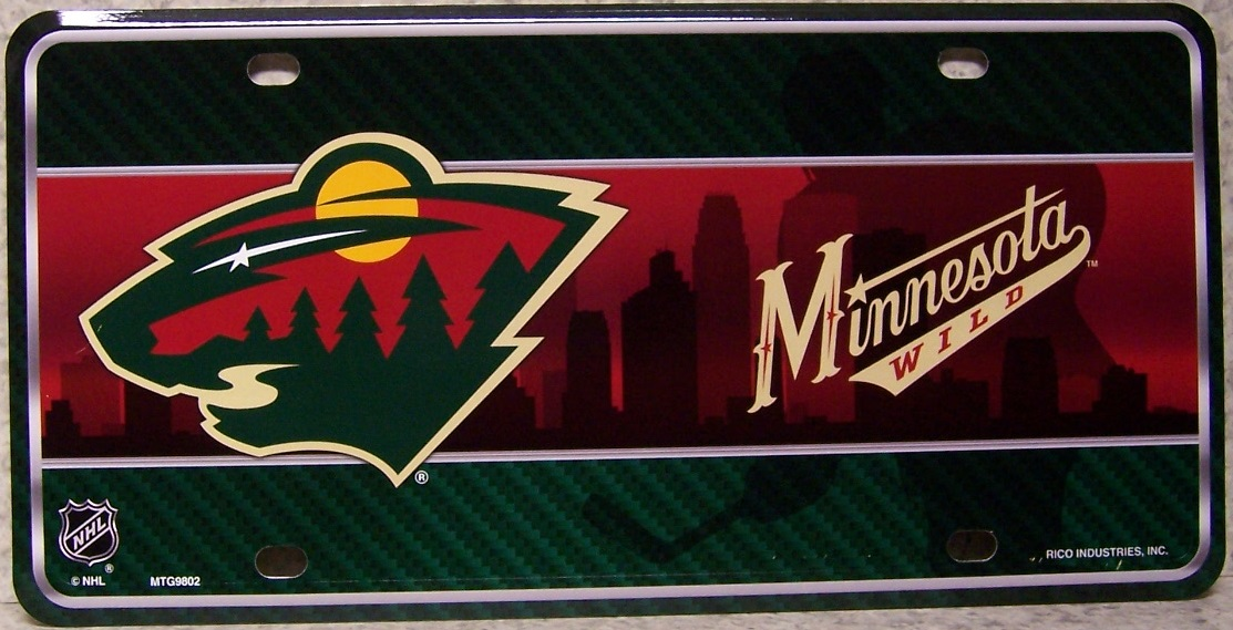 Minnesota Wild National Hockey League Aluminum NHL License Plate thumbnail