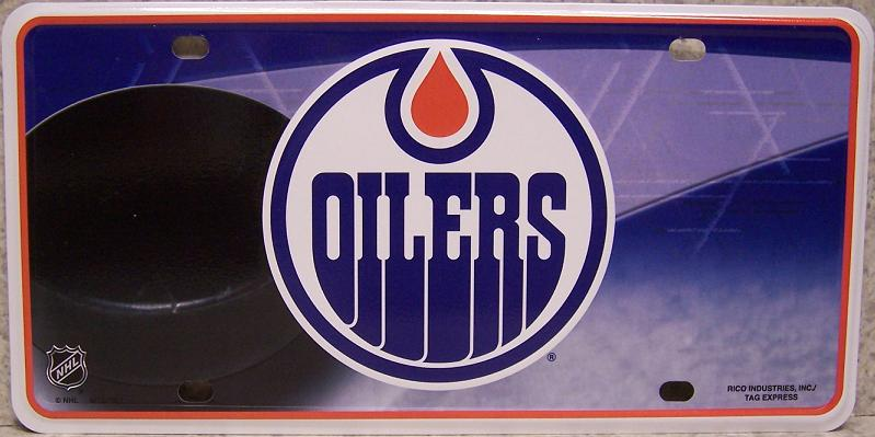 Edmonton Oilers National Hockey League Aluminum NHL License Plate thumbnail