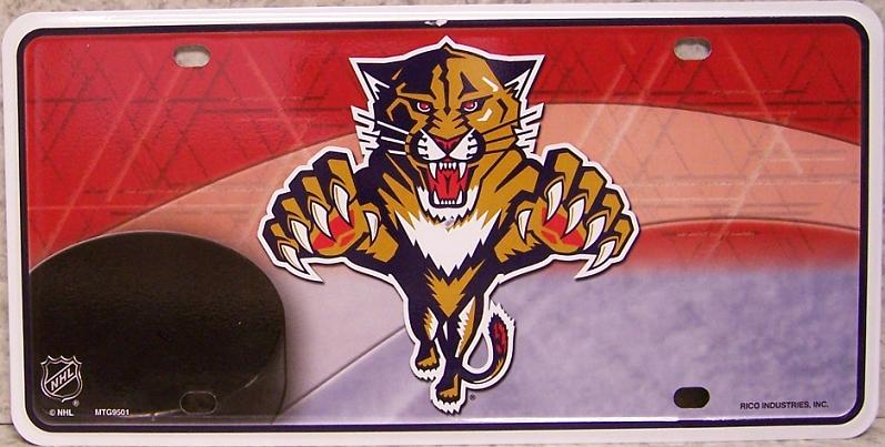 Florida Panthers National Hockey League Aluminum NHL License Plate thumbnail