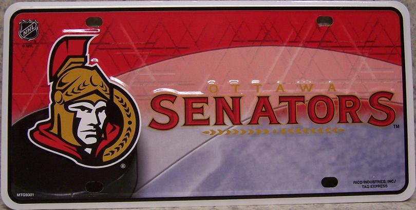 Ottawa Senators National Hockey League Aluminum NHL License Plate thumbnail