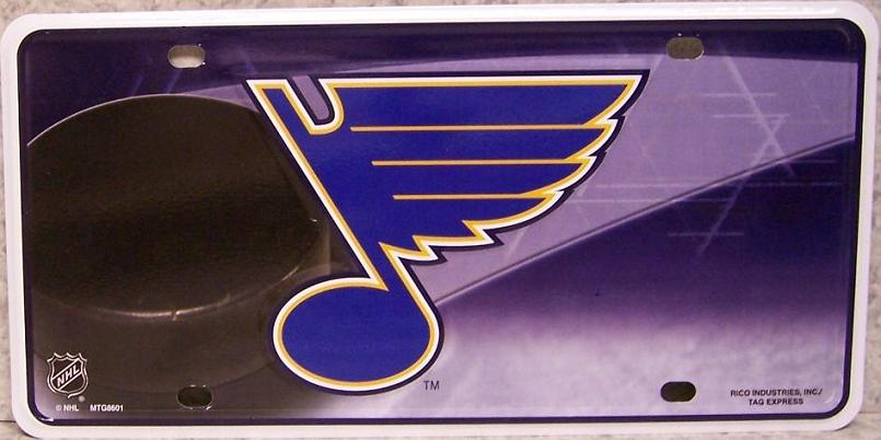 Saint Louis Blues National Hockey League Aluminum NHL License Plate thumbnail