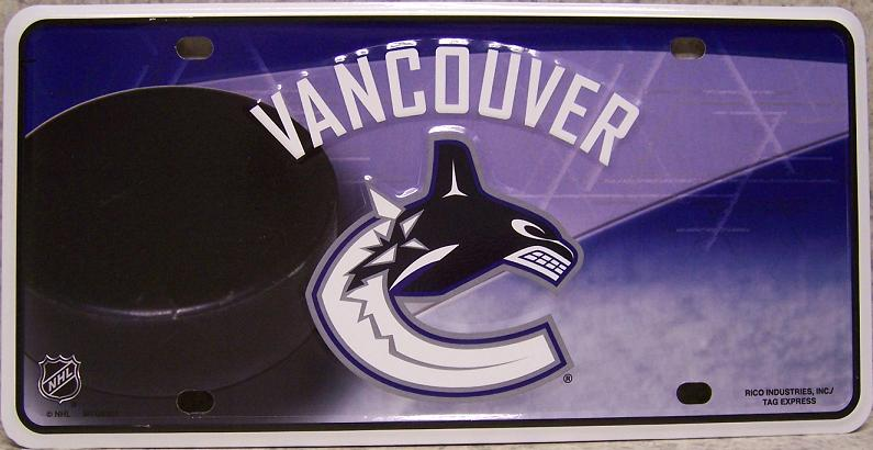 Vancouver Canucks National Hockey League Aluminum NHL License Plate thumbnail