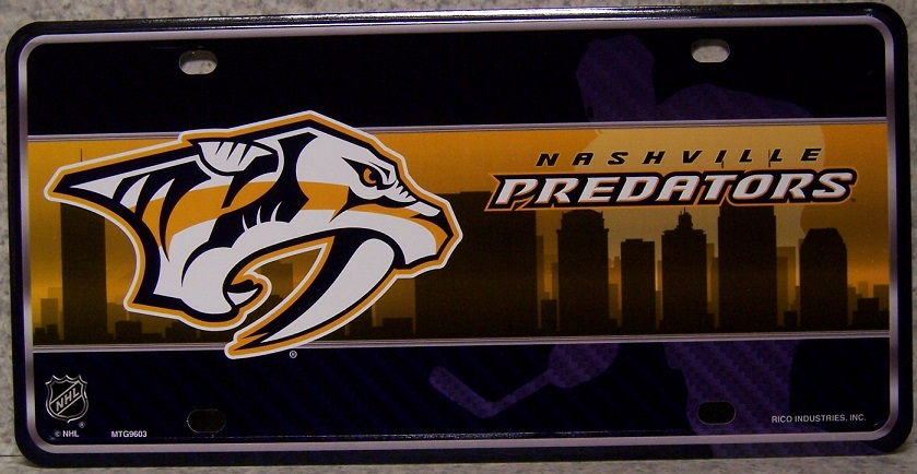 Nashville Predators National Hockey League Aluminum NHL License Plate thumbnail