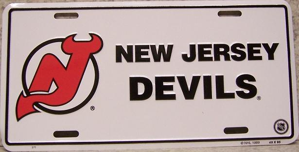 New Jersey Devils National Hockey League Aluminum NHL License Plate thumbnail