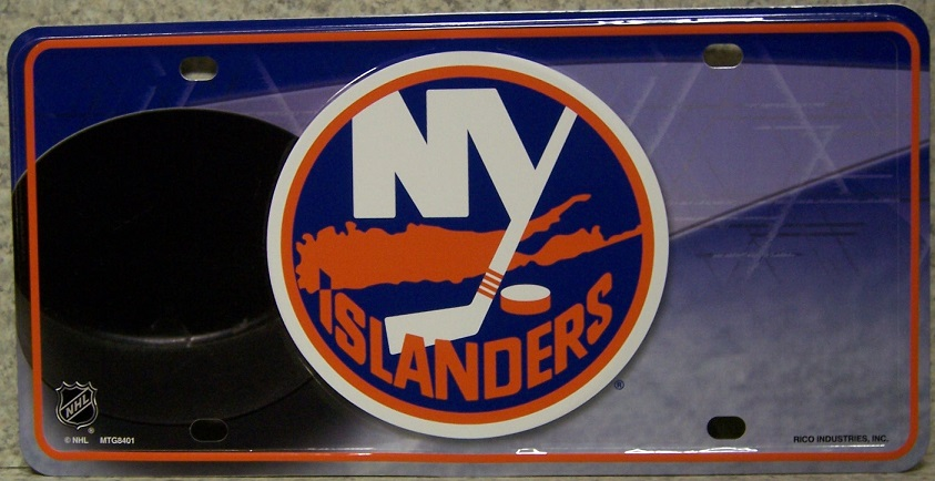 New York Islanders National Hockey League Aluminum NHL License Plate thumbnail