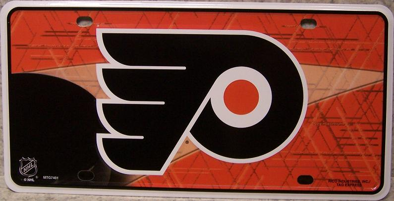 Philadelphia Flyers National Hockey League Aluminum NHL License Plate thumbnail
