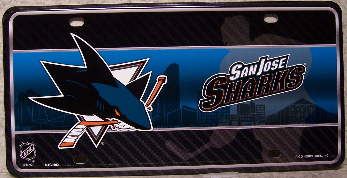 San Jose Sharks National Hockey League Aluminum NHL License Plate thumbnail