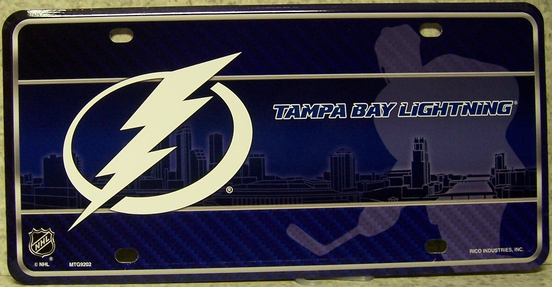 Tampa Bay Lightning National Hockey League Aluminum NHL License Plate thumbnail