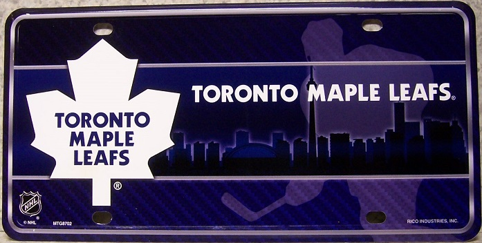 Toronto Maple Leafs National Hockey League Aluminum NHL License Plate thumbnail