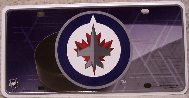 Winnipeg Jets National Hockey League Aluminum NHL License Plate thumbnail