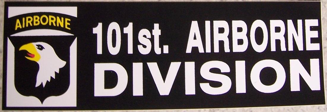Bumper window sticker 101st airborne self stick vinyl 3x9 for 101st airborne window decals