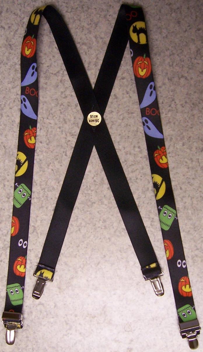 """Suspenders Children /& Junior 1/""""x36/"""" FULLY Elastic Halloween Ghosts /& Goblins NEW"""