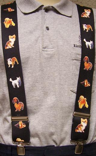 """Suspenders 2/""""x48/"""" FULLY Elastic Animal Dogs small NEW"""