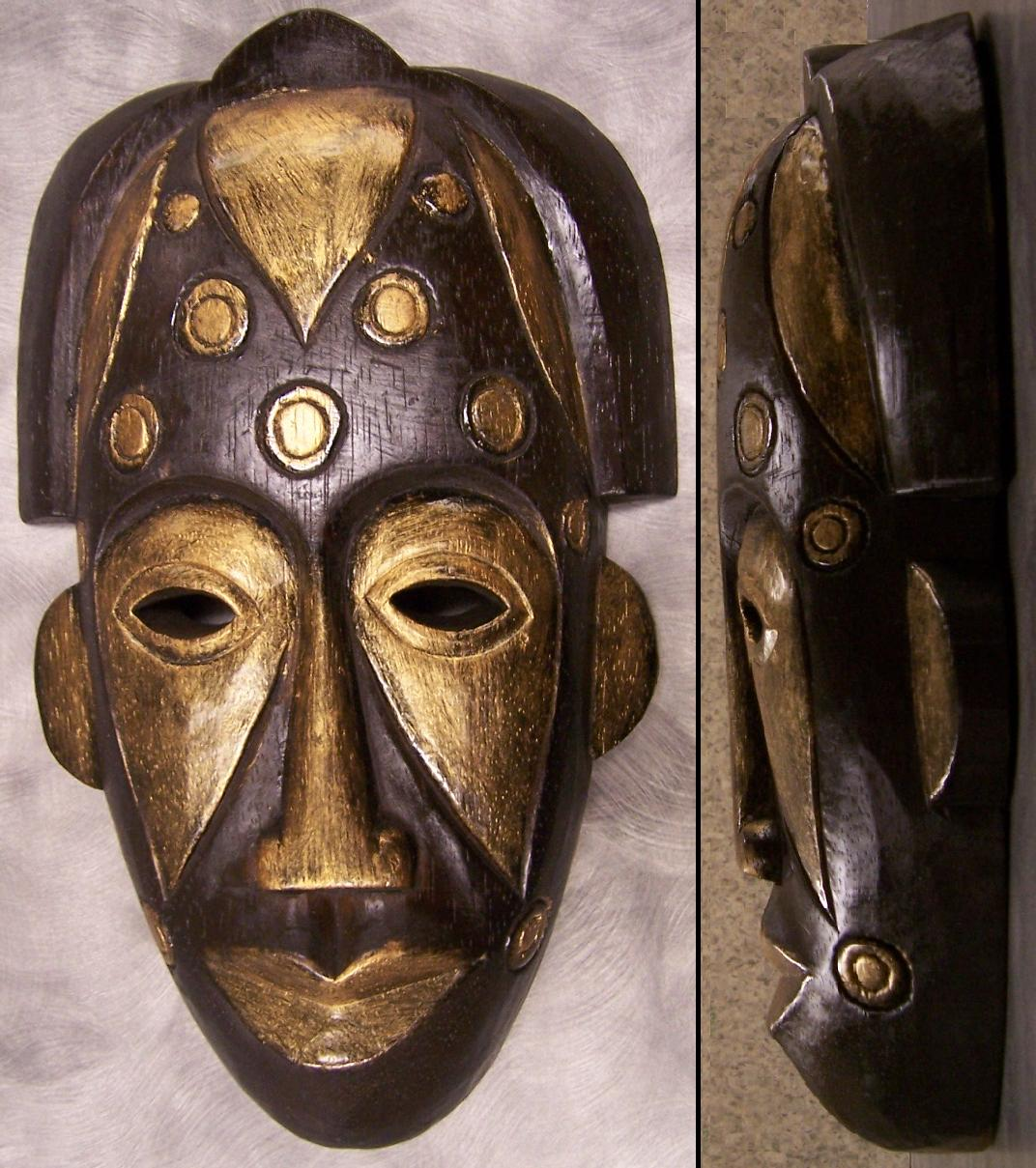Hand Carved Wood Tribal Face Wall Mask 8 Quot X13 Quot New Ebay