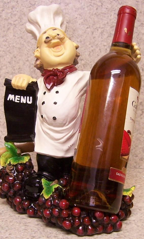 Country Chef and Menu Board Wine Bottle Holder thumbnail