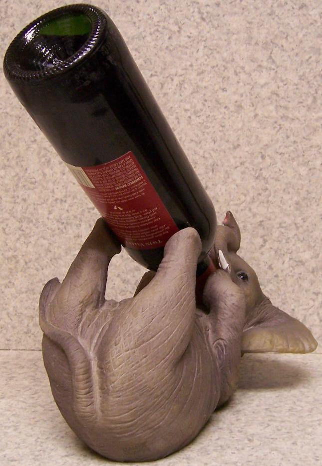 Lionheart designs international elephant wine bottle - Elephant wine bottle holder ...