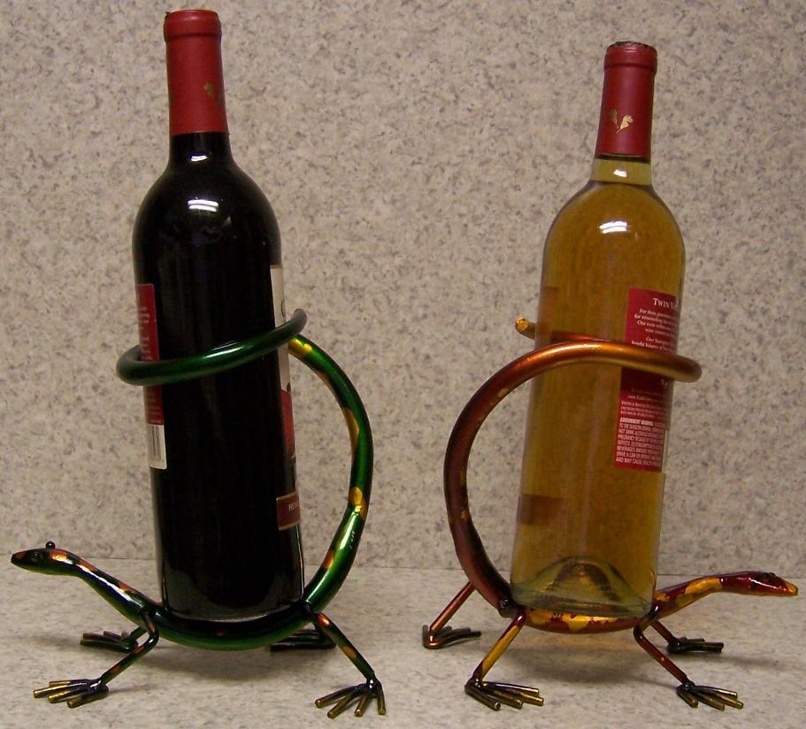 Wine Bottle Holder All Metal Whimsical Sculpture Desert