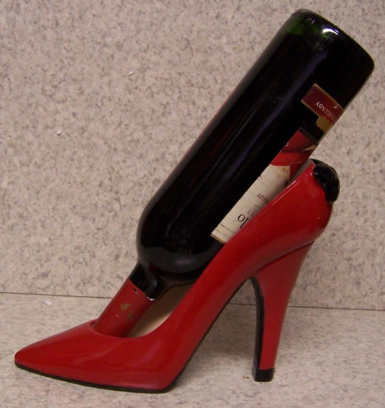 Red Party Shoe Wine Bottle Holder thumbnail