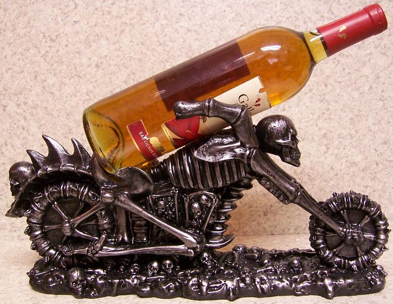 Raising Hell Motorcycle Wine Bottle Holder thumbnail