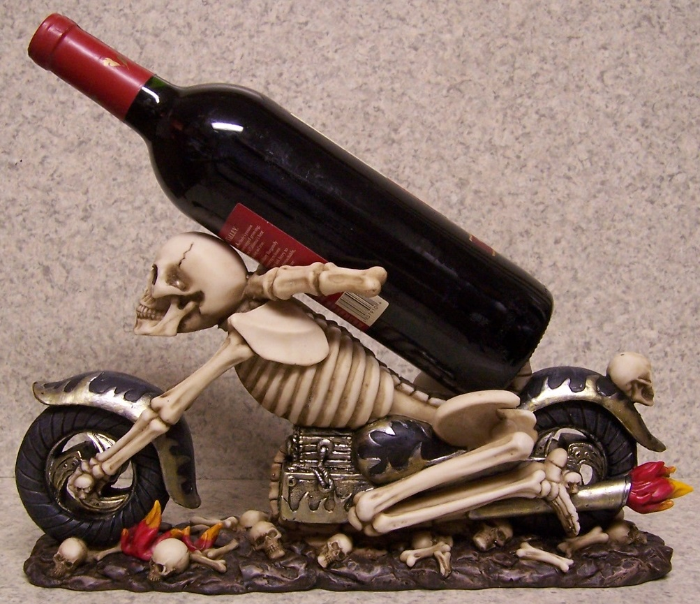 Skeleton Motorcycle Wine Bottle Holder thumbnail