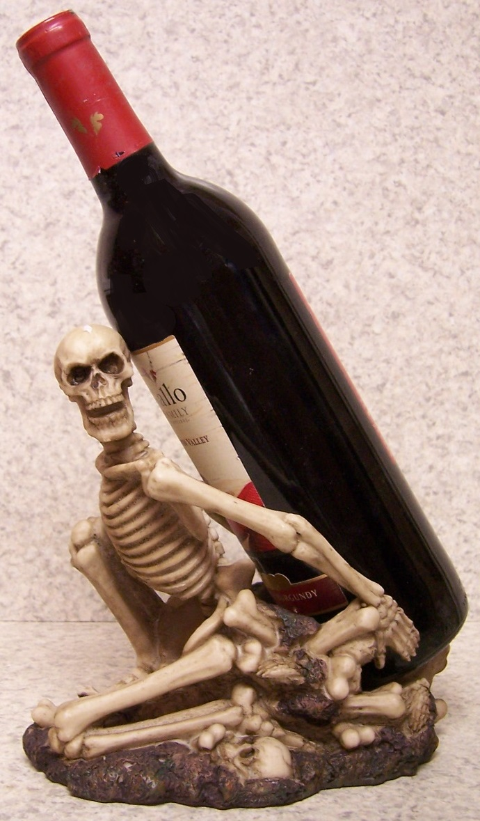 Skeleton Kneeling Wine Bottle Holder thumbnail
