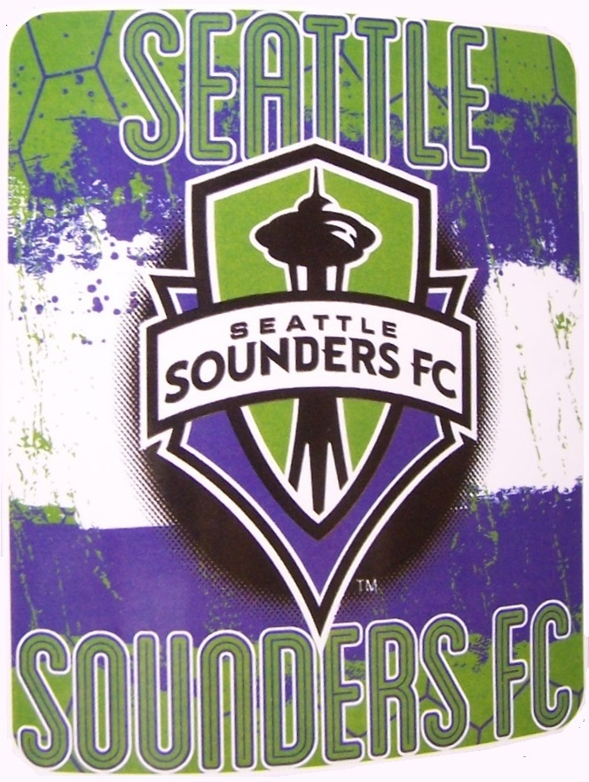 Seattle Sounders MLS blanket Major League Soccer 50 by 60 inches 100 percent fleece polyester