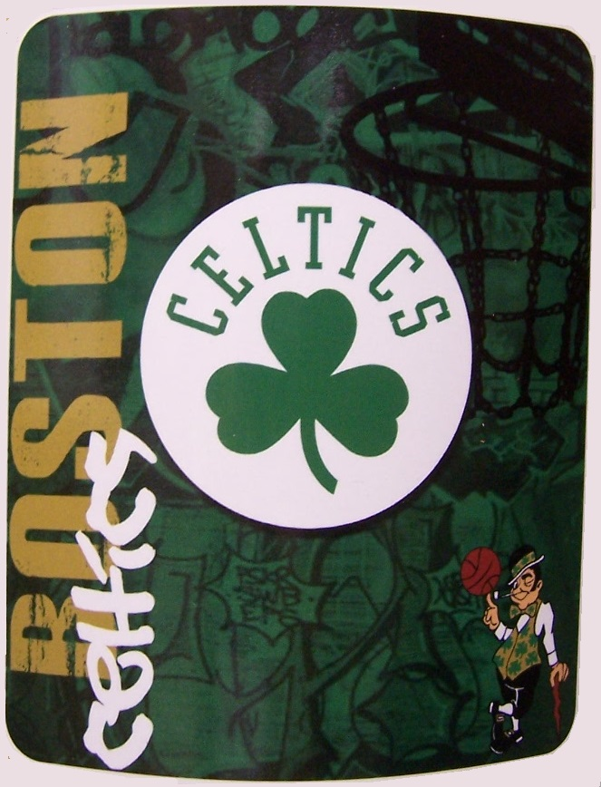 Boston Celtics NBA blanket National Basketball Association 50 by 60 inches 100 percent fleece polyester