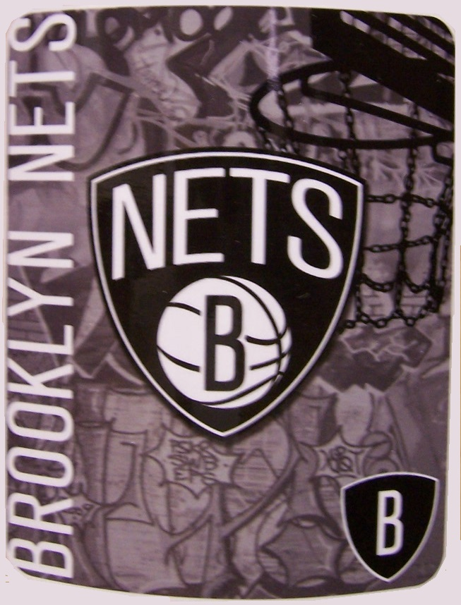 Brooklyn Nets NBA blanket National Basketball Association 50 by 60 inches 100 percent fleece polyester
