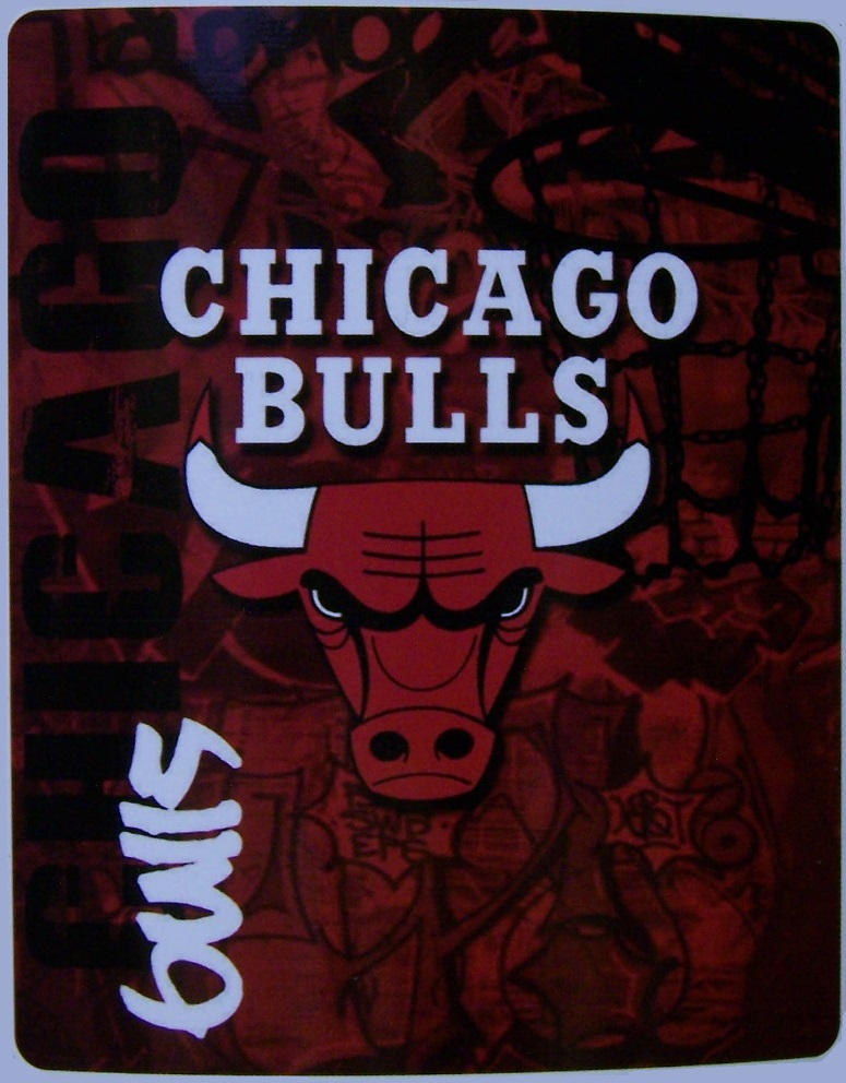 Chicago Bulls NBA blanket National Basketball Association 50 by 60 inches 100 percent fleece polyester