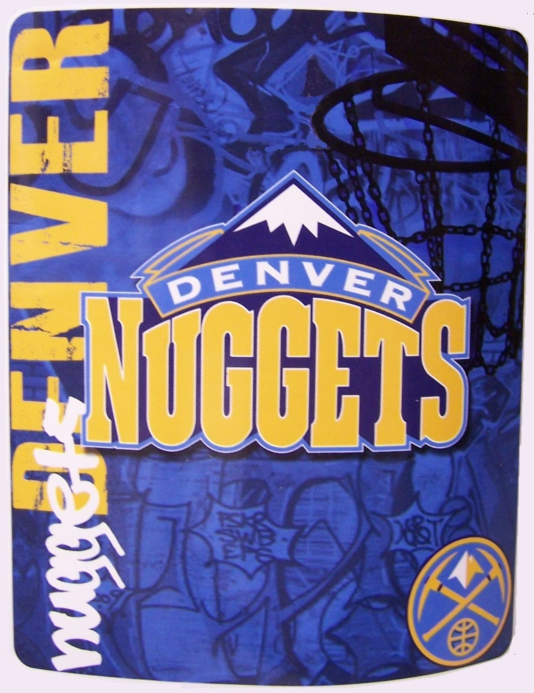 Denver Nuggets NBA blanket National Basketball Association 50 by 60 inches 100 percent fleece polyester