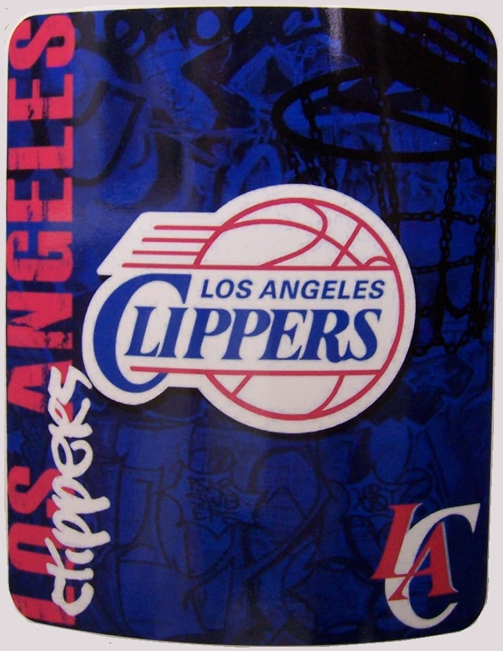Los Angeles Clippers NBA blanket National Basketball Association 50 by 60 inches 100 percent fleece polyester