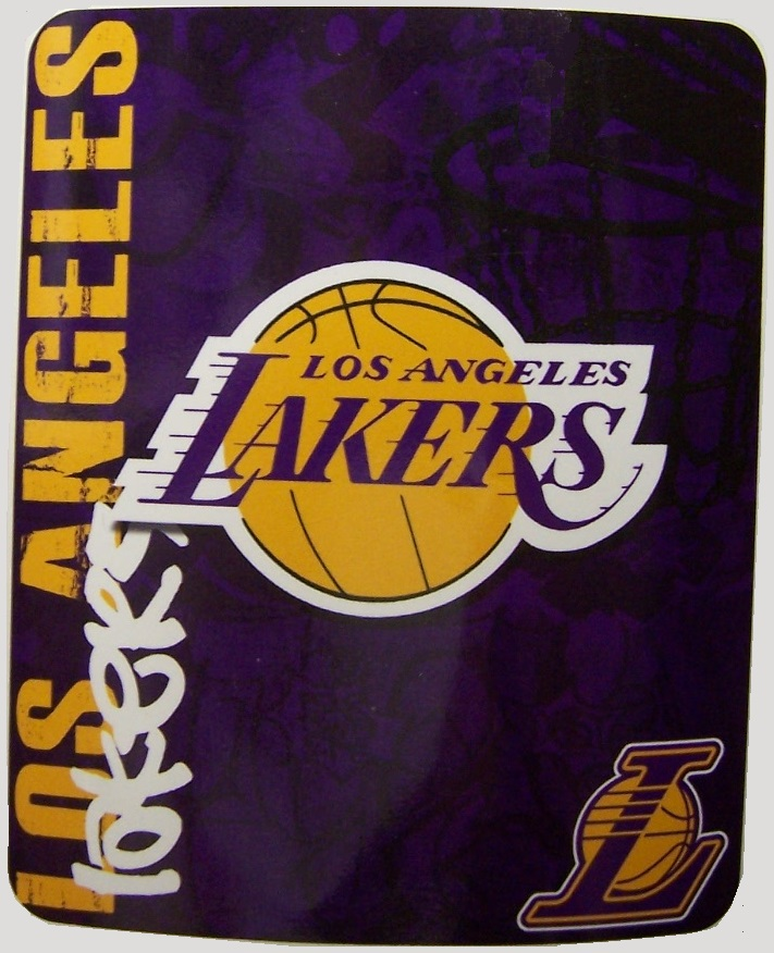 Los Angeles Lakers NBA blanket National Basketball Association 50 by 60 inches 100 percent fleece polyester