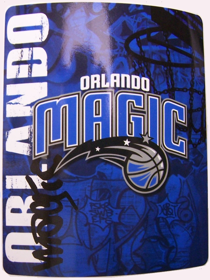Orlando Magic NBA blanket National Basketball Association 50 by 60 inches 100 percent fleece polyester