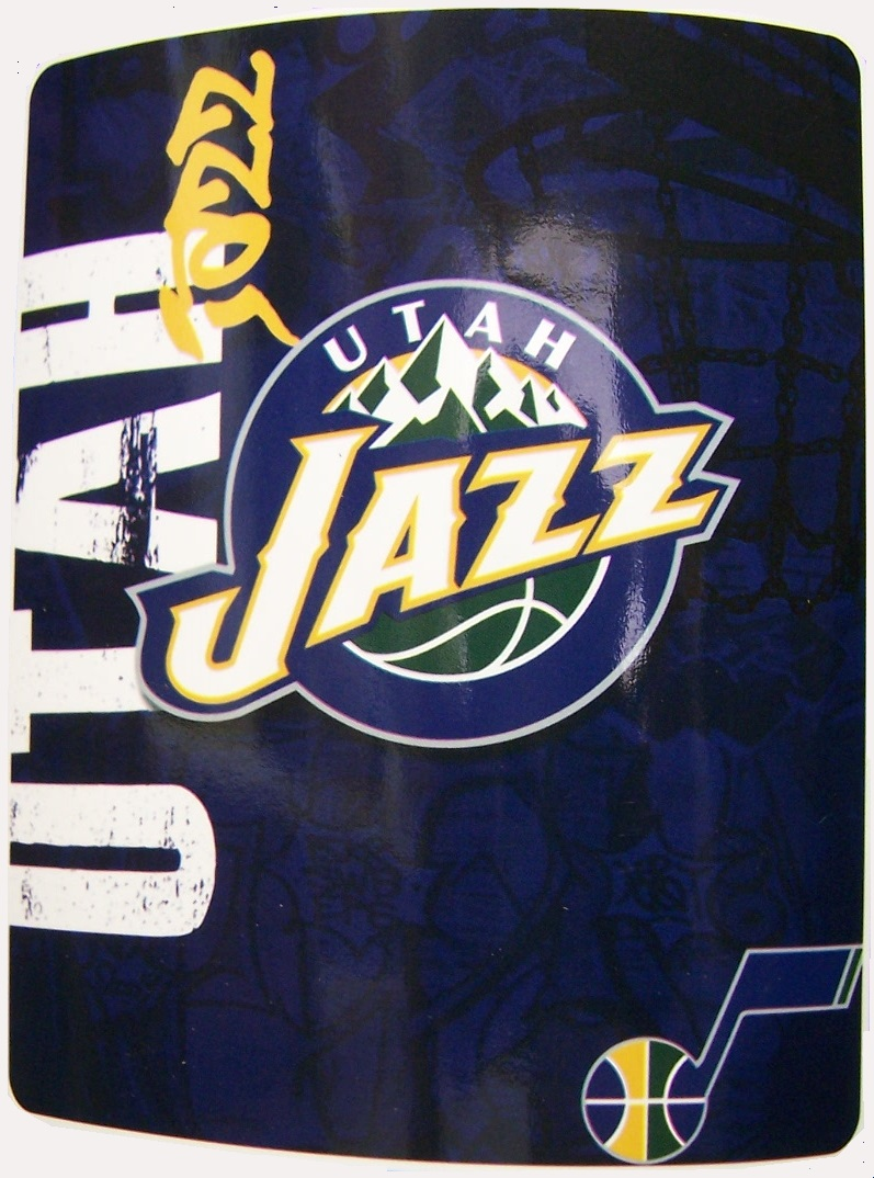 Utah Jazz NBA blanket National Basketball Association 50 by 60 inches 100 percent fleece polyester