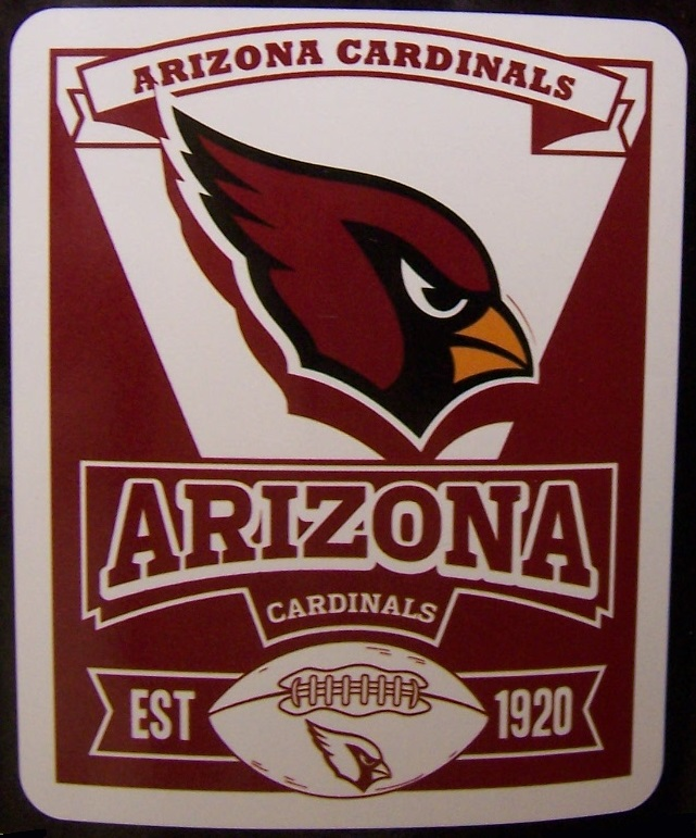 Arizona Cardinals NFL blanket National Football League 50 by 60 inches 100 percent fleece polyester
