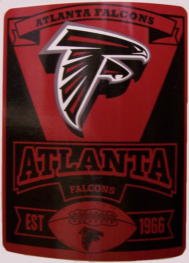 Atlanta Falcons NFL blanket National Football League 50 by 60 inches 100 percent fleece polyester