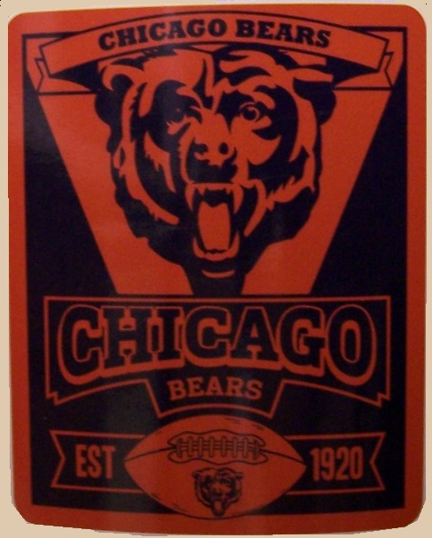 Chicago Bears NFL blanket National Football League 50 by 60 inches 100 percent fleece polyester