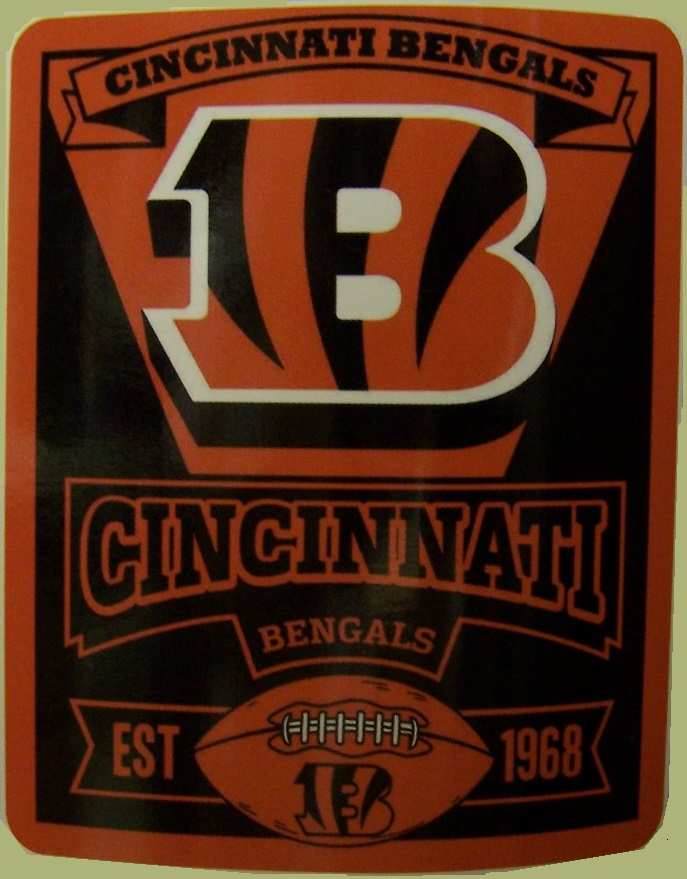 Cincinnati Bengals NFL blanket National Football League 50 by 60 inches 100 percent fleece polyester