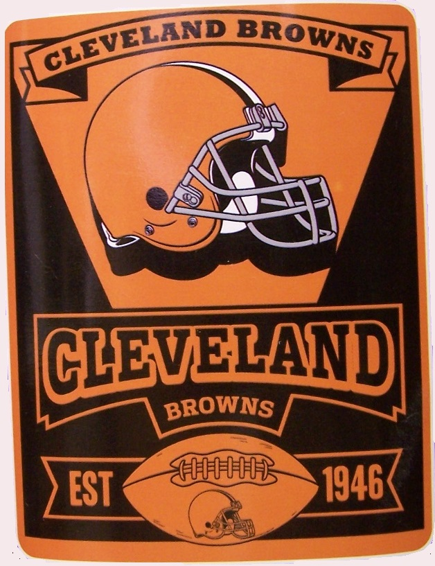Cleveland Browns NFL blanket National Football League 50 by 60 inches 100 percent fleece polyester