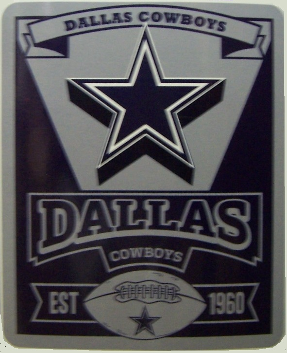 Dallas Cowboys NFL blanket National Football League 50 by 60 inches 100 percent fleece polyester