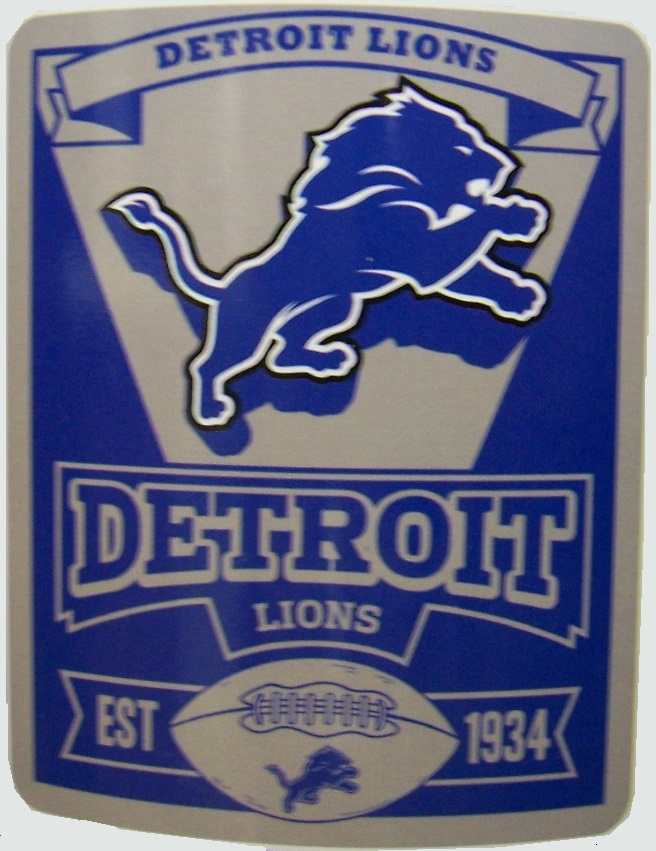 Detroit Lions NFL blanket National Football League 50 by 60 inches 100 percent fleece polyester