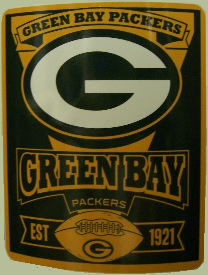 Green Bay Packers NFL blanket National Football League 50 by 60 inches 100 percent fleece polyester