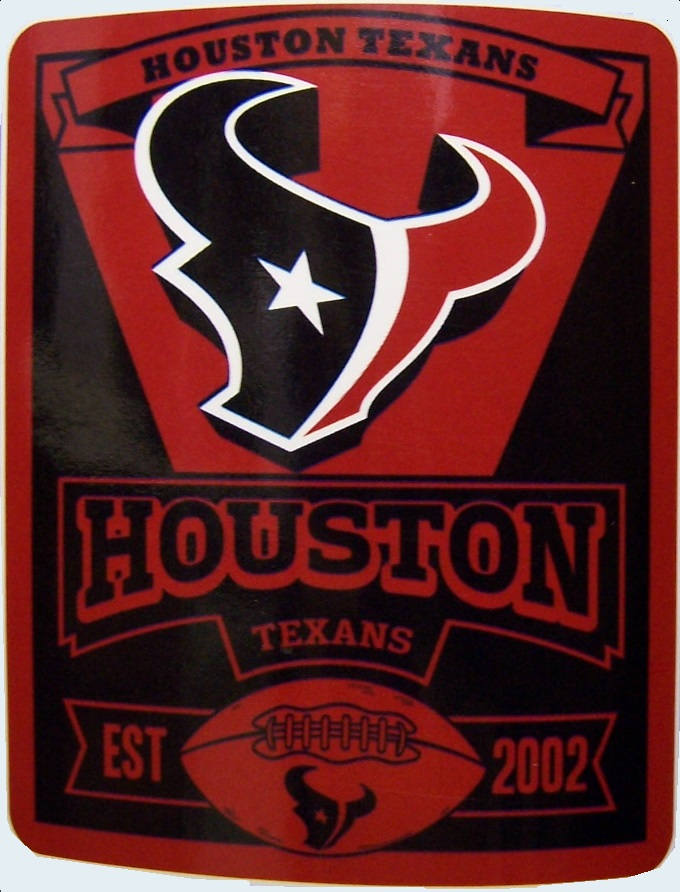 Houston Texans NFL blanket National Football League 50 by 60 inches 100 percent fleece polyester