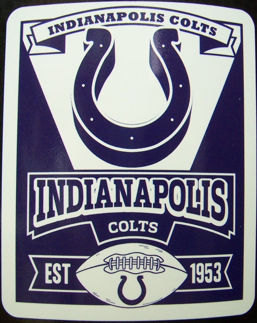 Indianapolis Colts NFL blanket National Football League 50 by 60 inches 100 percent fleece polyester