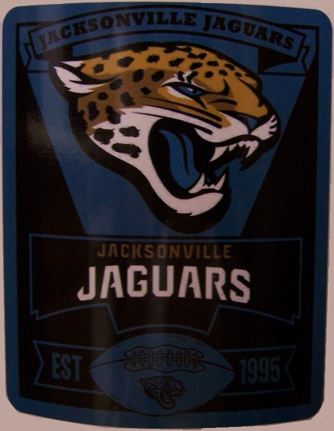 Jacksonville Jaguars NFL blanket National Football League 50 by 60 inches 100 percent fleece polyester