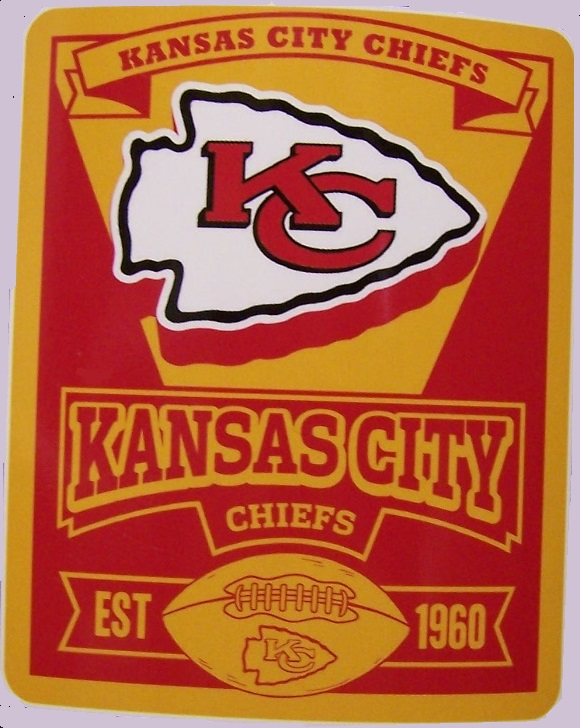 Kansas City Chiefs NFL blanket National Football League 50 by 60 inches 100 percent fleece polyester