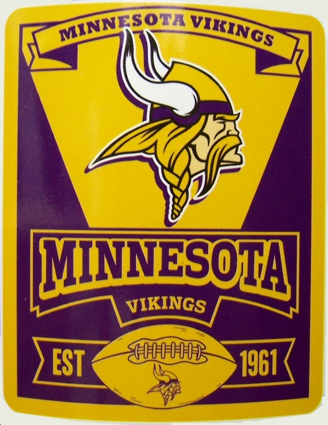 Minnesota Vikings NFL blanket National Football League 50 by 60 inches 100 percent fleece polyester
